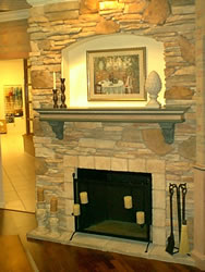 Merrillat Fireplace with cultured stone